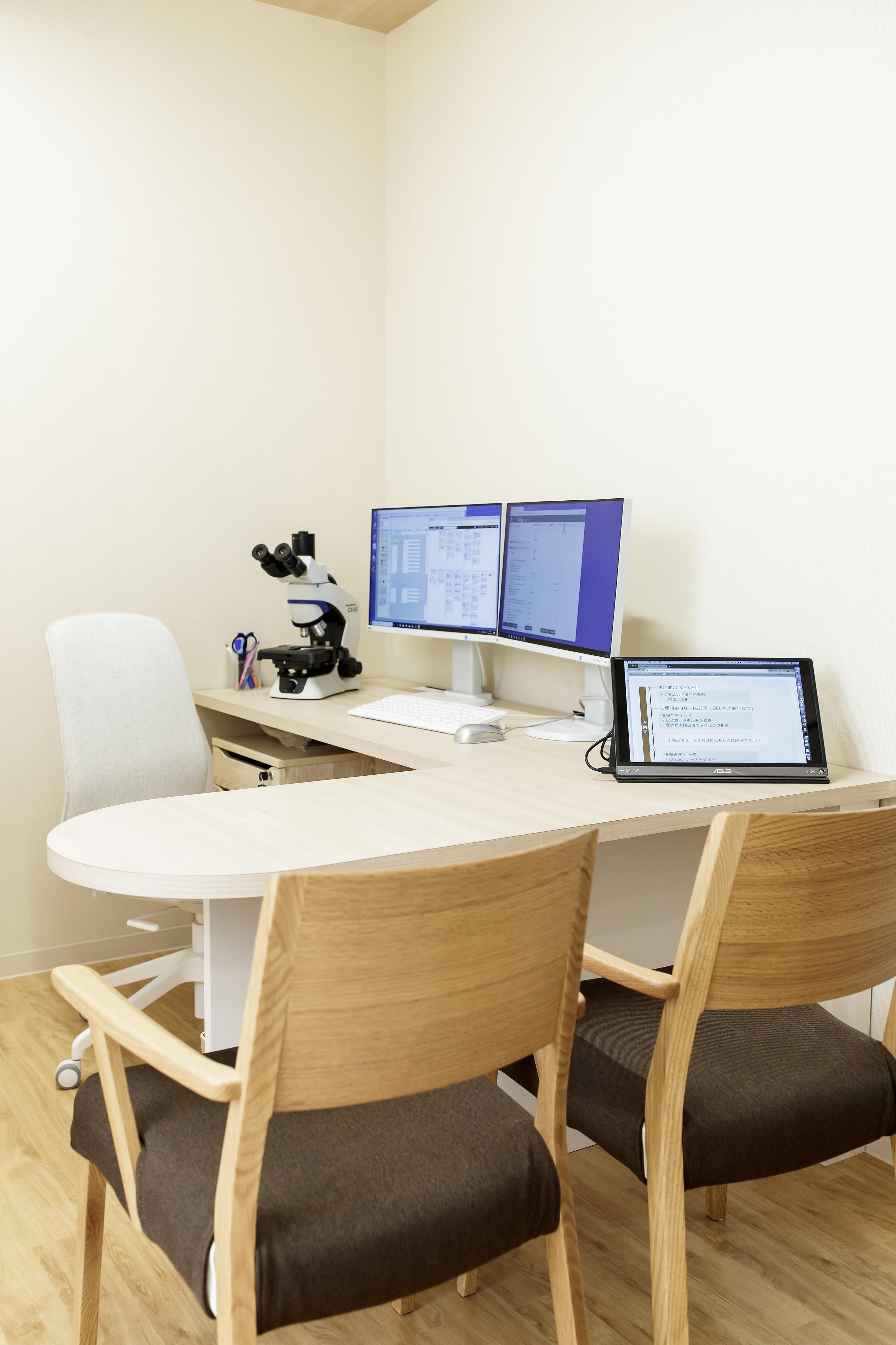 負担の少ない不妊治療の恵比寿レディースクリニックの診察室
